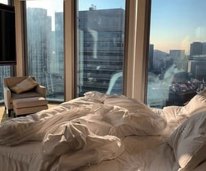 city, bedroom, and bed image