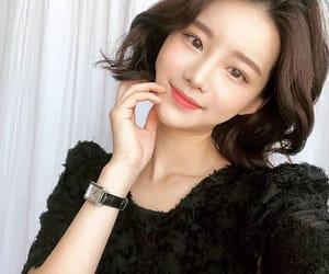 asian girl, makeup, and short hair image