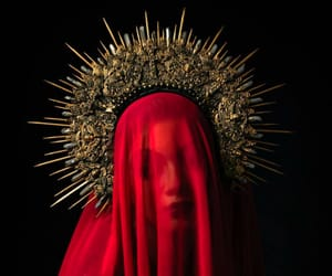 red, aesthetic, and crown image