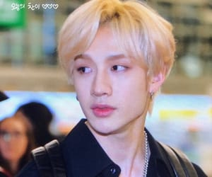 airport, black, and blonde image
