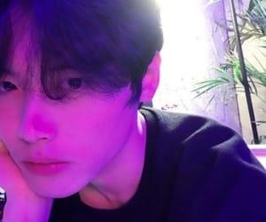 asian boy, ulzzang, and neon image