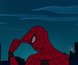 animated, gif, and spiderman image
