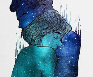 couple, love, and galaxy image