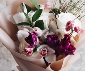 bouquet, flowers, and orchid image