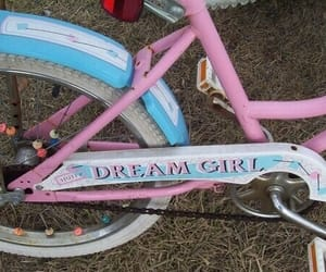 pink, grunge, and bike image