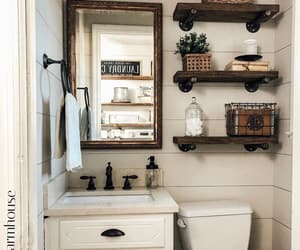 bathroom, country living, and decorating image