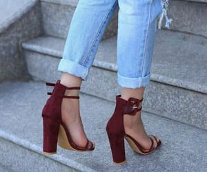 heels, red, and rouge image