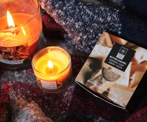 autumn, candle, and fire image