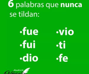 fe, palabras, and fue image