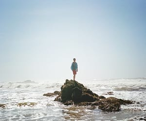 90s, rocks, and beach image