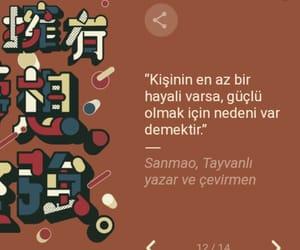 sanmao, alıntı, and türkçe sözler image