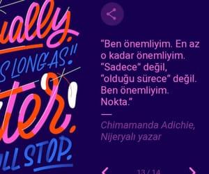alıntı, türkçe sözler, and chinmamanda adichie image