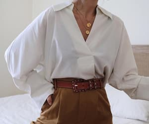 accesories, belt, and blouse image