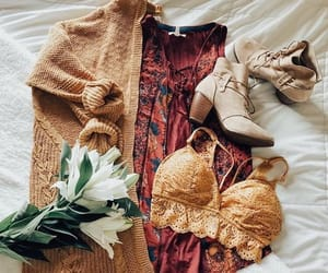 boots, bralette, and casual image