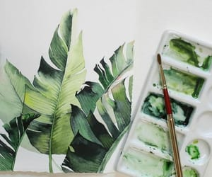 green, art, and plants image