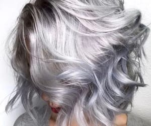 hair, silver, and style image