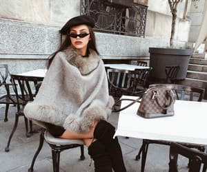 accesories, faux fur, and knitwear image