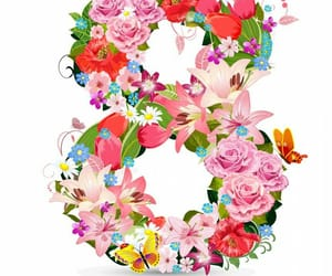flowers and women's day image
