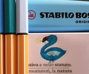 blue, stabilo, and doodling image
