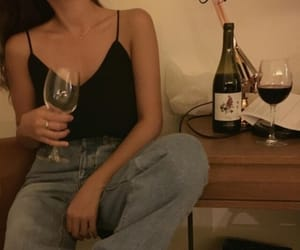wine, outfit, and grunge image
