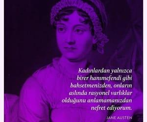jane austen, alıntı, and türkçe sözler image