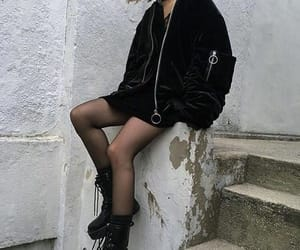 goth, grunge, and outfit image