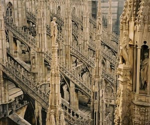 architecture, cathedral, and milan image