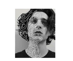 black and white, digital art, and timmy image