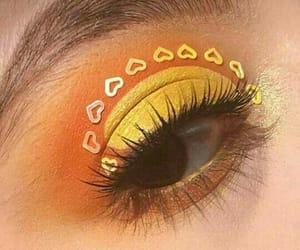 makeup, yellow, and aesthetic image