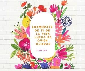 frida kahlo, mujer, and vida image
