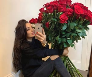 rose and girl image