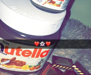 food, nutella, and snap image