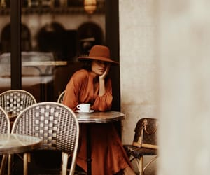 brown, cafe, and chic image