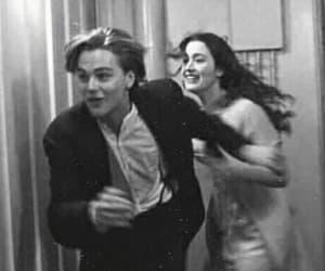 titanic, black and white, and movie image