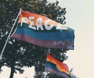 peace, gay, and pride image