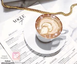coffee, sparkles, and instagram image