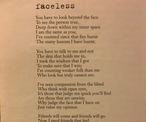 face, poetry, and faceless image