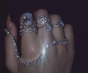 rings, luxury, and diamond image