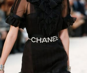 chanel, black, and dress image
