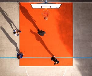 aerial view, Basketball, and orange image
