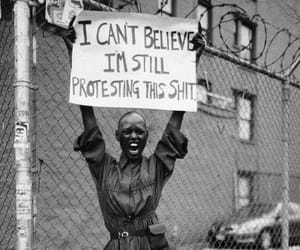 feminism, fight, and protest image