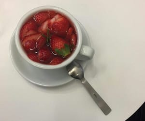 strawberry, aesthetic, and food image