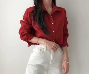 red, aesthetic, and outfit image