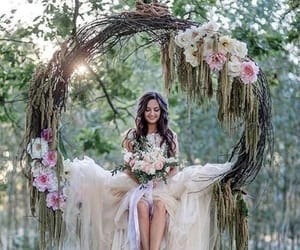 beauty, bouquet, and circle image