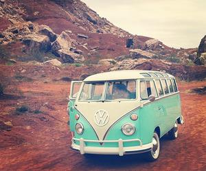 vintage, volkswagen, and blue image