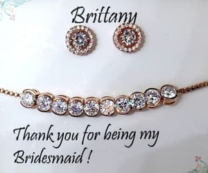earrings, necklace, and bridesmaids gifts image