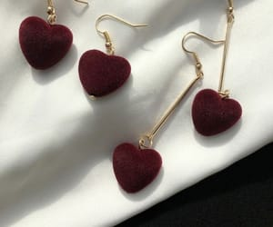 red, accessories, and earrings image