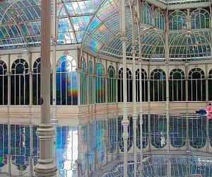 rainbow, architecture, and madrid image