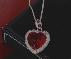 heart, jewelry, and red image