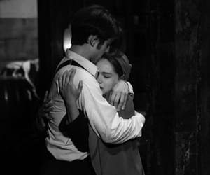 couple, hug, and leon image